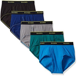 Hanes Men's 5-Pack Cool Comfort Lightweight Breathable Mesh Brief, Assorted, Large