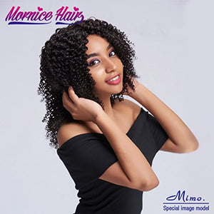 Brazilian Kinky Curly Hair, Mornice 10A 3 Bundles Deep Curly Human Hair Extensions Natural Color 14 16 18inch