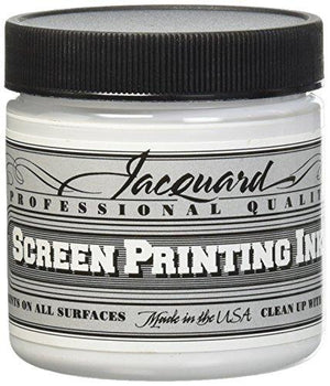 Jacquard Jac-Jsi1119 Screen Printing Ink, 4 Oz, Super Opaque White