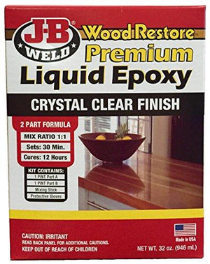 J-B Weld 40002 Wood Restore Premium Liquid Epoxy Kit - 32 Oz.