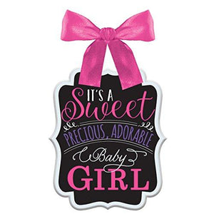 "Amscan ""It'S A Sweet Girl"" Chalkboard Sign, Pink"