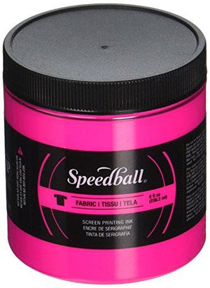Speedball Art Products Fluorescent Fabric Screen Printing Ink, 8Oz, Magenta