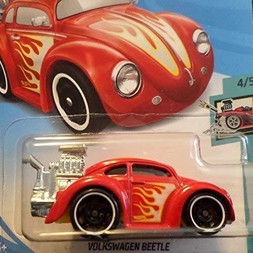 Hot Wheels Red Tooned Series Volkswagen Beetle With Side Flames