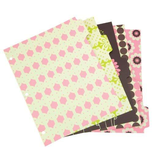 Wilson Jones Recycled Bliss Dividers, 5-Tab, Assorted Designs