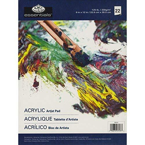 Royal Brush Langnickel 22-Sheet Oil And Acrylic Essentials Artist Paper Pad, 9-Inch By 12-Inch