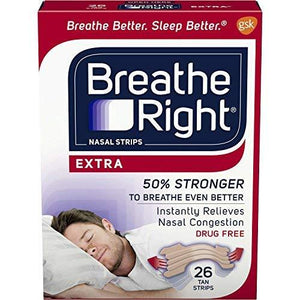 Breathe Right Nasal Strips Extra - 26 Count Box