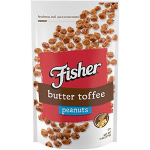 Fisher Snack Butter Toffee Peanuts, Gluten Free, 11 Oz (Pack Of 6)
