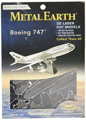 Fascinations Metal Earth Boeing 747 Airplane 3D Metal Model Kit