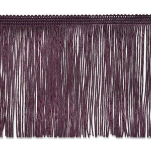"Expo International 5 Yards Of 4"" Chainette Fringe Trim, Eggplant"