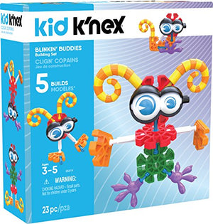 K'NEX Kid BLINKIN' Buddies Building Set – 23Piece – Ages 3 & Up Preschool Educational Toy Building Set