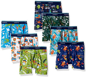 Hanes Boys Toddler 7-Pack Days Of The Week Boxer Brief, Assorted, 4