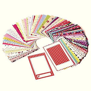 Polaroid Colorful Fun & Decorative Photo Border Stickers For 2X3 Photo Paper Projects (Snap Zip Z2300) - Pack Of 100