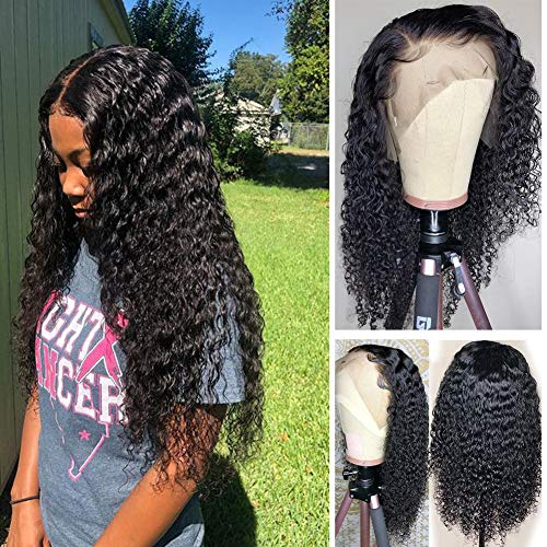 Lace Front Wigs Human Hair Pre Plucked(14 Inch), Top Silky Brazilian Human Hair Wigs for Black Women 150% Density Water Wave Frontal Wigs Human Hair