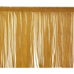 "Expo International 10 Yards Of 4"" Chainette Fringe Trim, Gold"