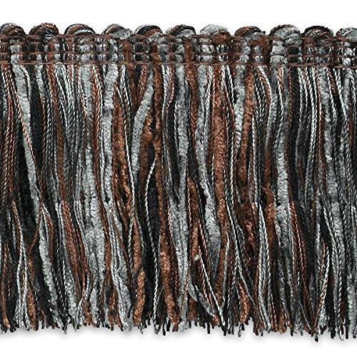 Expo IR4345PTM-20 20 yd of Chenille Cut Fringe Trim, Pewter Multi