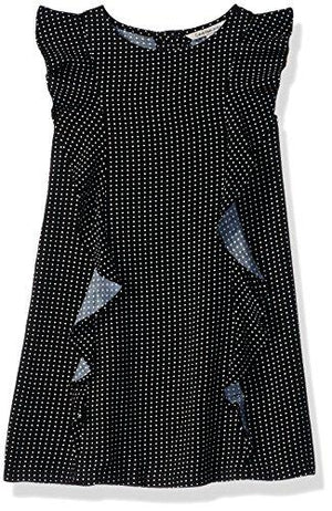 Calvin Klein Toddler Girls' Short Sleeve Printed Fashion Dress, Anthracite 2T