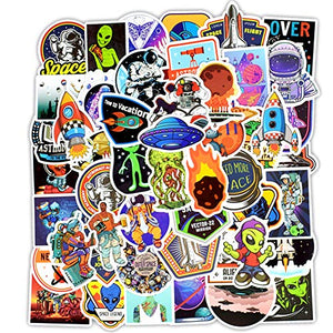 Alien Stickers 50 Pcs Laptop Stickers Pack Space Decals for Suitcase Laptop Ipad Car Luggage Water Bottle Helmet