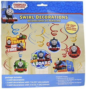 "Amscan ""Thomas All Aboard"" Swirl Value Pack, Party Favor"