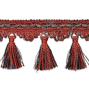 Expo International Red RIC-Rac Tassel Trim, 20 yd, Multicolor
