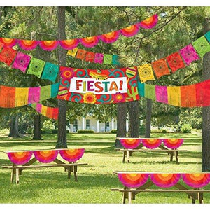 Amscan Giant Fiesta Multicolored Indoor/Outdoor Decorating Kit | Party Decoration
