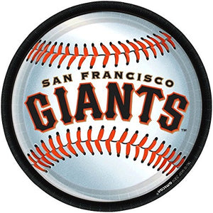 """San Francisco Giants Major League Baseball Collection"" 9"" Round, Party Plates"