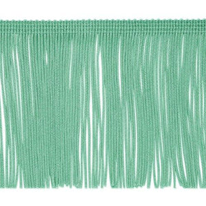 "Expo International 10 Yards Of 4"" Chainette Fringe Trim, Mint Green"
