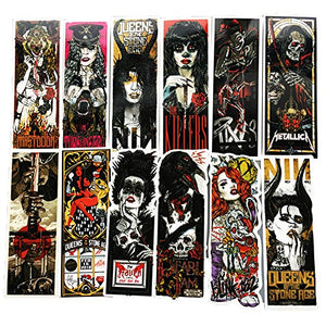Honch Vinyl Horror Gothic Metal Bands Stickers 50 Pcs Pack Fan Art Decals for Laptop Ipad Car Suitcase Water Bottle Helmet