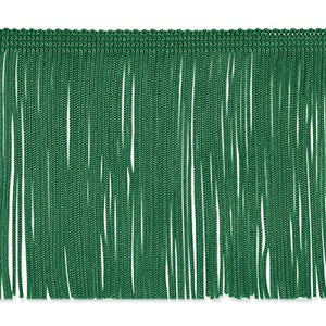 "Expo International 5 Yards Of 4"" Chainette Fringe Trim, 5 Yd X 4"", Emerald"
