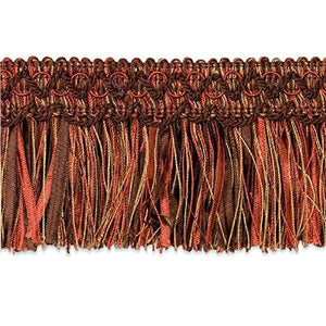 Expo International Chocolate Cut Ribbon Fringe Trim, 20 yd, Multicolor