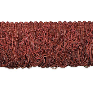"Expo International 3"" Chenille Loop Fringe Trim, 10 Yd, Cranberry"