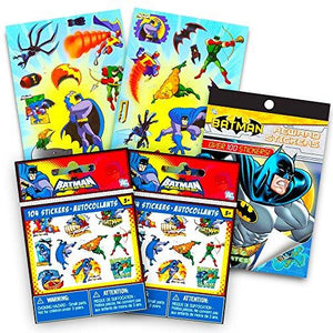Dc Comics Justice League Batman Stickers Set ~ Over 350 Stickers Featuring Batman, Robin, Aquaman And More (Ultimate Batman Set)