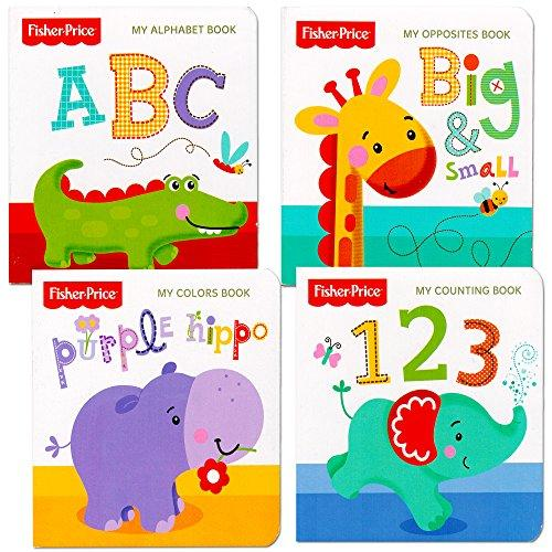 "Fisher Price ""My First Books"" Set Of 4 Baby Toddler Board Books"