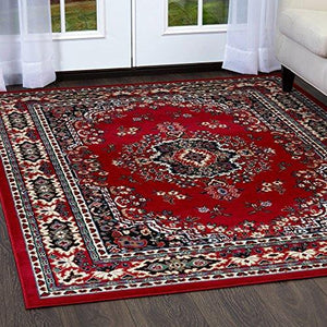 "Home Dynamix Premium Rug Collection 21"" X 35"" Claret Area Rug"