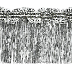 Expo International Maeve Metallic Braid Fringe Trim Embellishment, 10-Yard, Silver