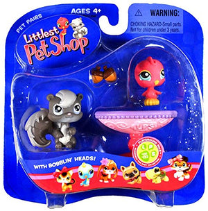 Hasbro Littlest Pet Shop Pet Pairs Figures Bird Squirrel
