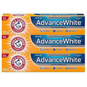 Arm & Hammer Advance White Extreme Whitening With Stain Defense Fresh Mint 6 Oz 3 Count