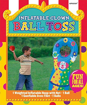 Amscan Inflatable Clown Ball Toss Game