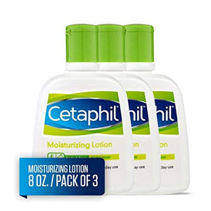 Cetaphil Fragrance Free Moisturizing Lotion, 8-Ounce Bottles (Pack Of 3)