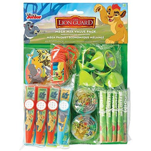 Amscan 398032 Disney The Lion Guard Mega Mix Value Pack Favors, Party Favor, Multicolor, One Size