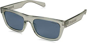 Polaroid Sunglasses PLD 6050/s Polarized Rectangular Sunglasses, Grey, 53 mm