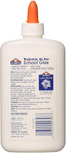 Elmer'Swashable No-Run School Glue - 7.625 Oz - 1 Bottle