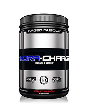 Kaged Muscle Hydra Charge Electrolyte Powder Pre Post Intra Workout Fruit Punch 60 Servings