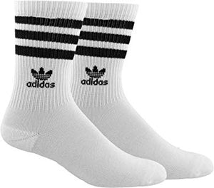 Adidas Womens Originals Roller Crew Socks (1Pack) Whiteblack Medium