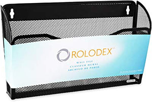 Rolodex Mesh Collection Single-Pocket Wall File - Black