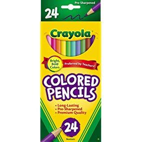 Crayola 24 Ct Colored Pencils Assorted Colors