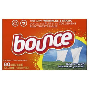 Bounce Fabric Softener Dryer Sheets, Outdoor Fresh Scent, 80 Count