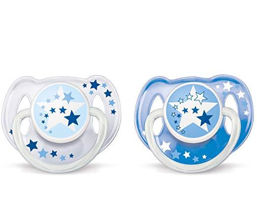 Philips Avent Bpa Free Night Time Pacifier, 6-18 Months, 2 Count Pack