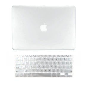 "Top Case - 2 In 1 Retina 13-Inch Clear Rubberized Hard Case Cover For Apple Macbook Pro 13.3"" - Matte Clear"