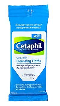 Cetaphil Gentle Cleansing Cloth, 10 Count
