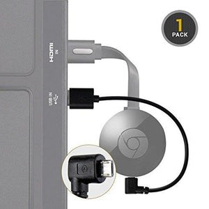 Eresource Chromecast Usb Cable - 8 Inch Usb Cable And Bonus Chromecast Ebook